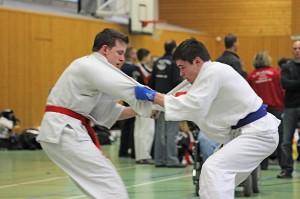 Falk Niemann beim Griffkampf